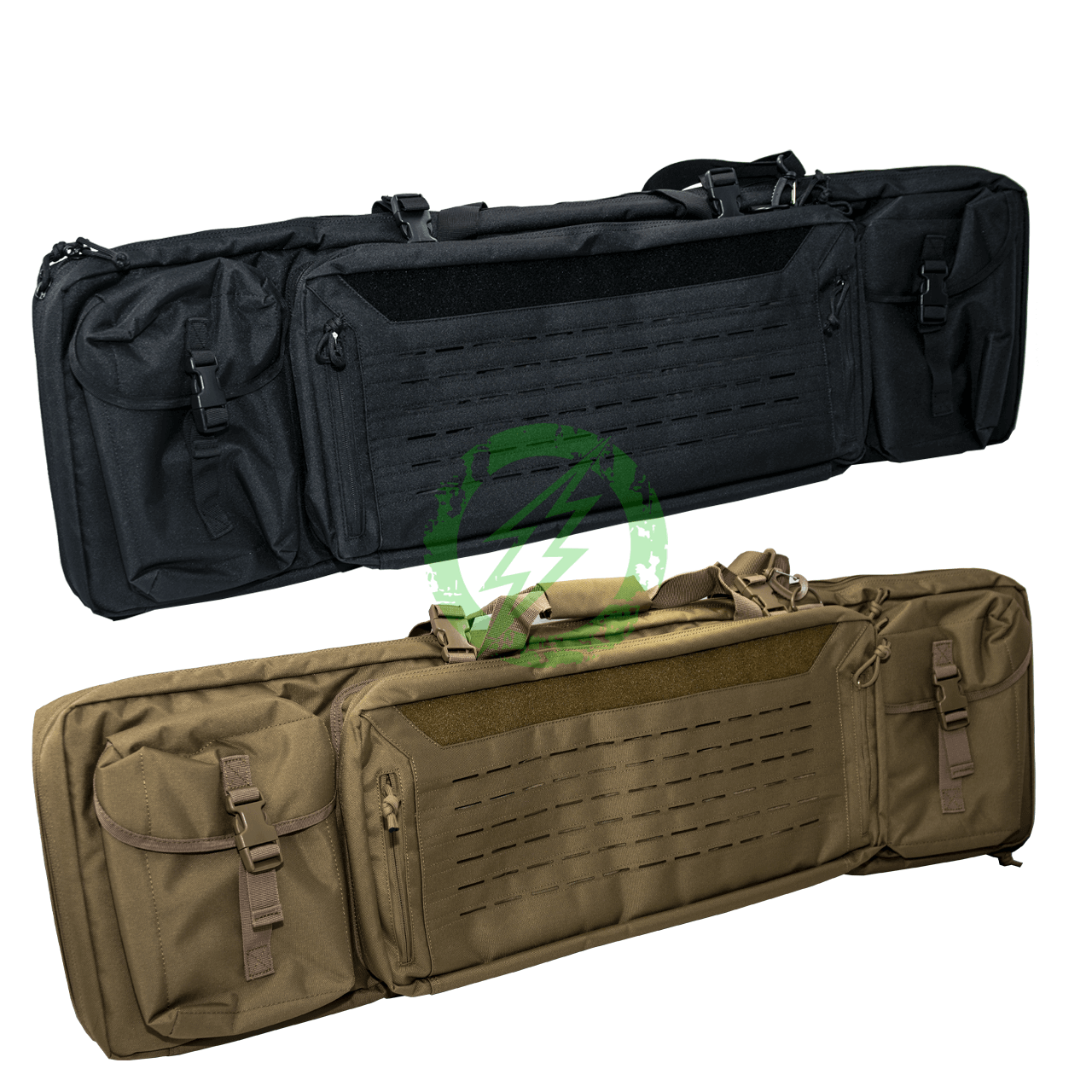 "Guawin Laser Cut 42"" Rifle Bag   Black & Tan"