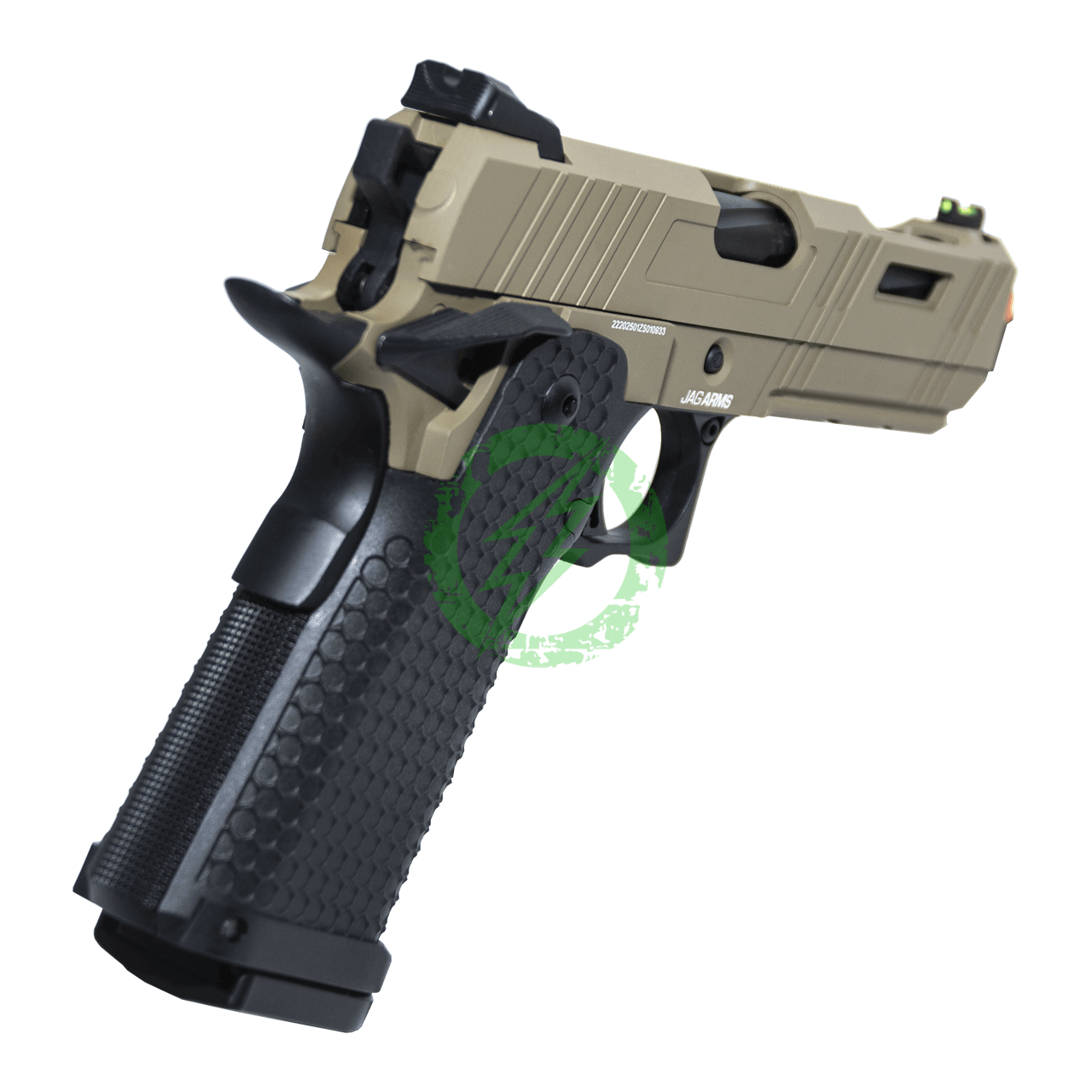 JAG Arms Tan 4.3 GMX-3 Series Gas Blow Back Pistol Grip