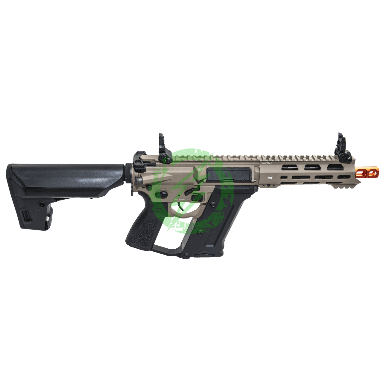 "KWA Ronin ""Tekken"" TK.45C2 Electric Airsoft Gun FDE Right"