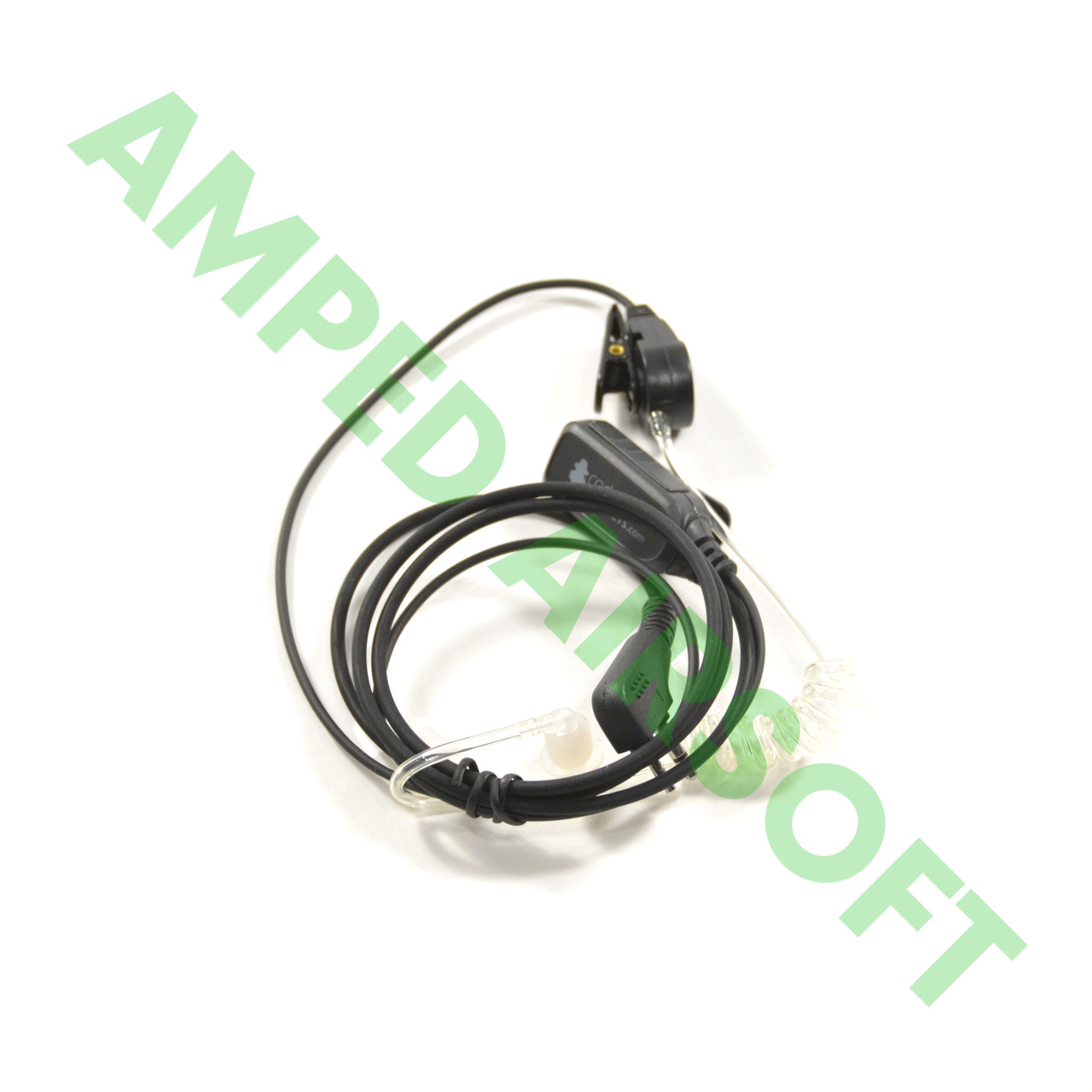 Code Red Headsets - Recruit-K Single Wire Mic with Acoustic Tube Earpiece (Kenwood with a 2 Pin connector)