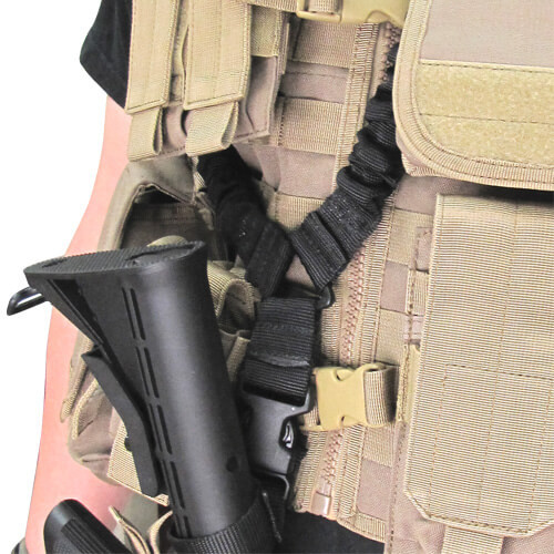 Condor - Cobra One Point Sling (Black) with Slung Weapon