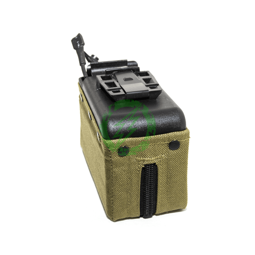 MAG - Cartridge Pouch Motorized Magazine for CA M249 (2500rds/Box Magazine/Khaki) side
