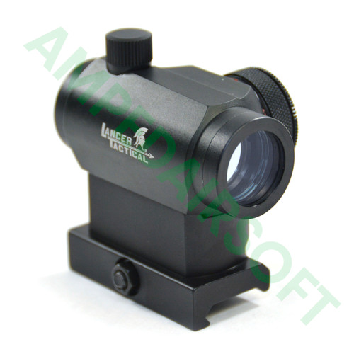 Lancer Tactical - Mini Red & Green Dot Sight with QD Release Mount (Black) Right Side