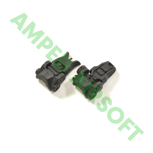 PTS - Enhanced Polymer Back Up Iron Sight Set (Front/Rear/Black) Folded