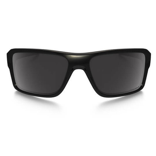 2ae60ea6ddc ... Oakley - Double Edge (Polished Black Frame w  Prizm Black Polarized  Lens) Front ...