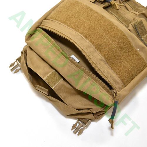 LBX Tactical - Banger Back Panel (Coyote Brown) Top Compartments Un Zipped