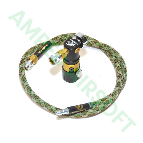 Amped Custom HPA Rig - PolarStar MRS (Modular Regulator System) Pictured with Amped Snake Line