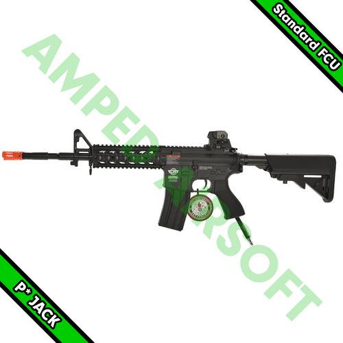 Amped Custom HPA Starter Rifle - G&G CM16 Raider Long (Black) with JACK Standard