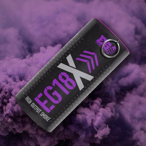 Enola Gaye Purple EG18X Military Smoke Grenade Smoke Plume