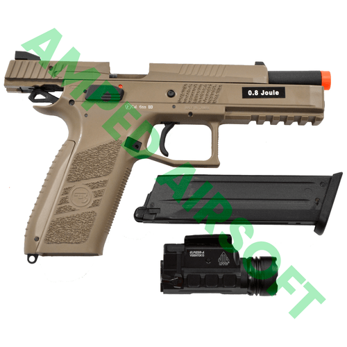 Amped Bundle - ASG CZ P-09 Polymer (FDE) Light Bundle with Slide Locked Back