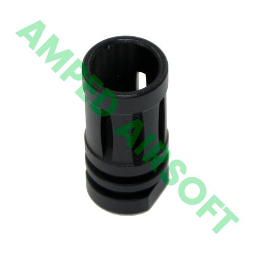 Matrix - Bird Cage Metal M4 Flash Hider (14mm-/CCW/Black) Standing Up