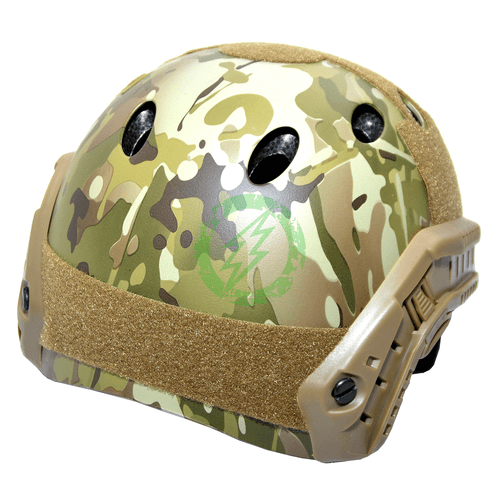 Emerson Gear Camo PJ Bump Type Tactical Helmet | Basic back