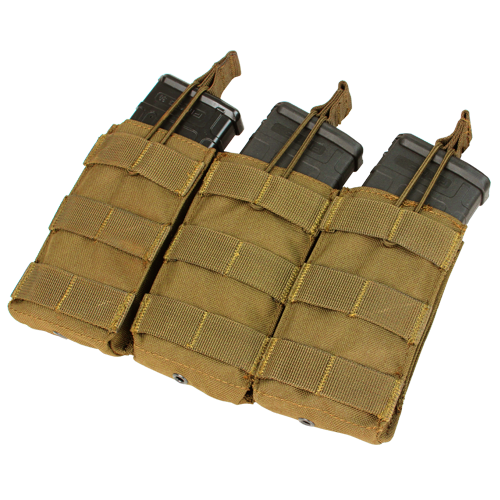 Condor - Open Top Triple M4 Mag Pouch (Coyote Brown)