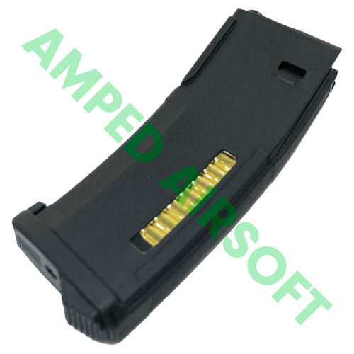 PTS - Enhanced Polymer Magazine (EPM) for Tokyo Marui Recoil Shock M4/Scar (Black) Bottom