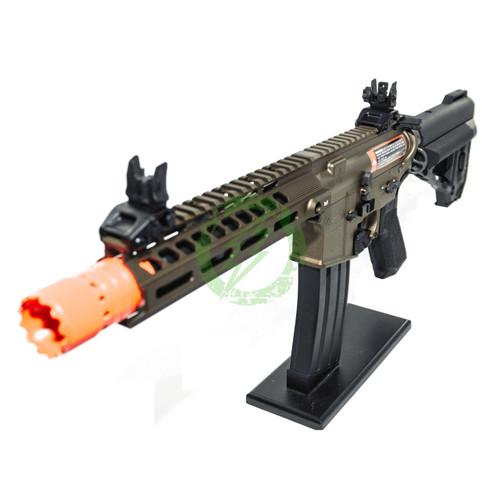 Amped Custom HPA Rifle VR16 Avalon Series Saber CQB GEN2 | Bronze Left Profile