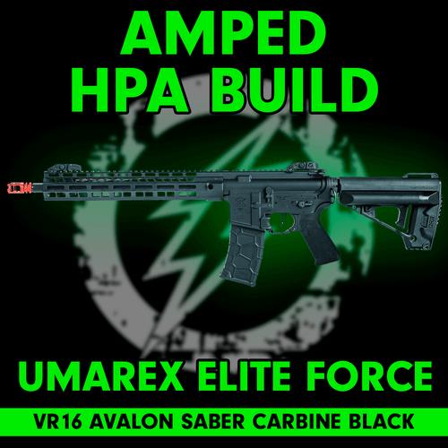 Amped Custom HPA Rifle VR16 Avalon Saber Carbine GEN2 | Black