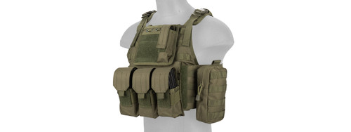 Lancer Tactical - Nylon Tactical Assault Plate Carrier (Olive Drab) Left Side Profile