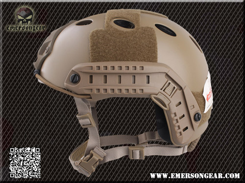 Emerson - Bump Type Tactical Airsoft Helmet (PJ Type / Advanced / Dark Earth) Side