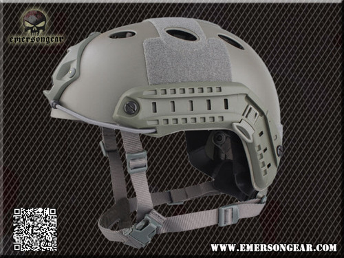Emerson - Bump Type Tactical Airsoft Helmet (PJ Type / Advanced / Foliage Green) Side