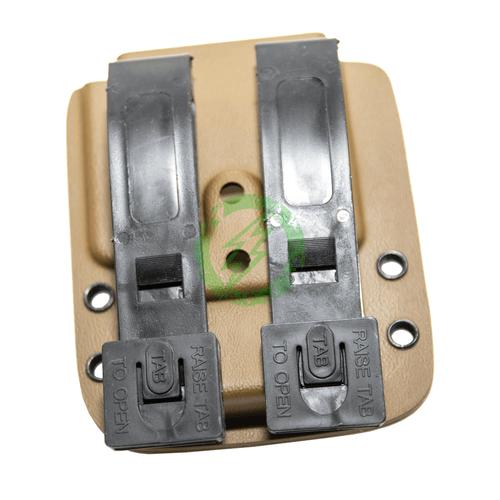MC Kydex - UV-5R Standard Battery   Coyote Brown back