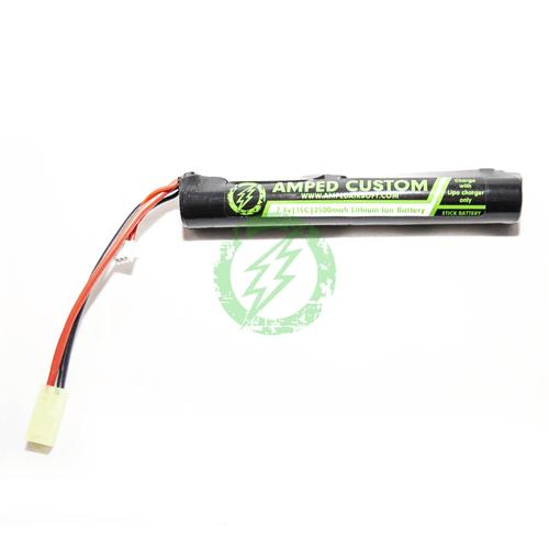 Amped Custom - 7.4v 2500mah 15C Li-Ion Battery Pack   Mini Tamiya / Stick