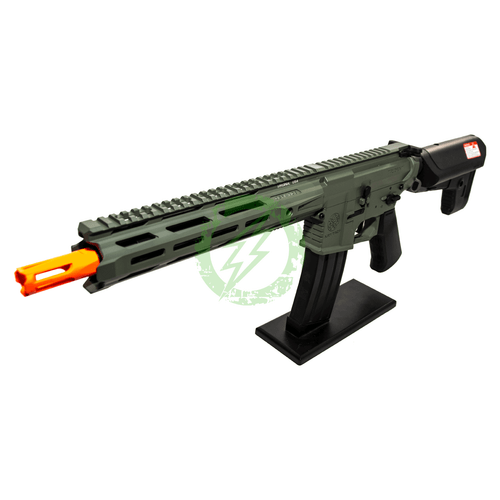 Amped Custom HPA Rifle Krytac MKII-M CRB | Foliage Green Left Profile