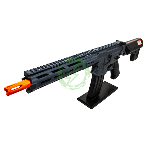Amped Custom HPA Rifle Krytac MKII-M CRB | Combat Grey Left Profile