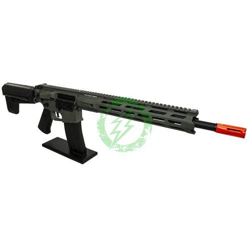 Amped Custom HPA Rifle Krytac MKII-M SPR | Foliage Green Right Profile