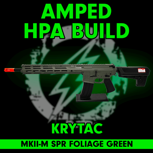 Amped Custom HPA Rifle Krytac MKII-M SPR | Foliage Green