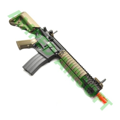 Amped Custom HPA Rifle VFC COLT MK18 MOD1 VR16 Airsoft Rifle | Tan Right Profile