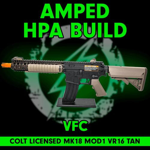 Amped Custom HPA Rifle VFC COLT MK18 MOD1 VR16 Airsoft Rifle | Tan