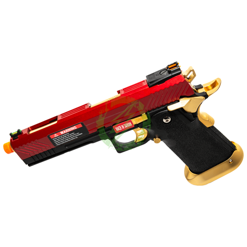 AW Custom | Hi-Capa Competition GBB Pistol | Red / Gold left
