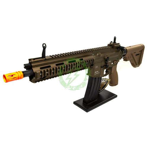 Amped Custom HPA Rifle Elite Force H&K 416A5 | Tan Left Profile