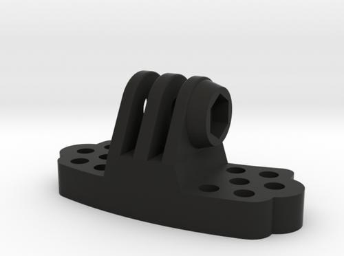 Brain Exploder 3D Printed Paintball Mask Mount for GoPro | Black side