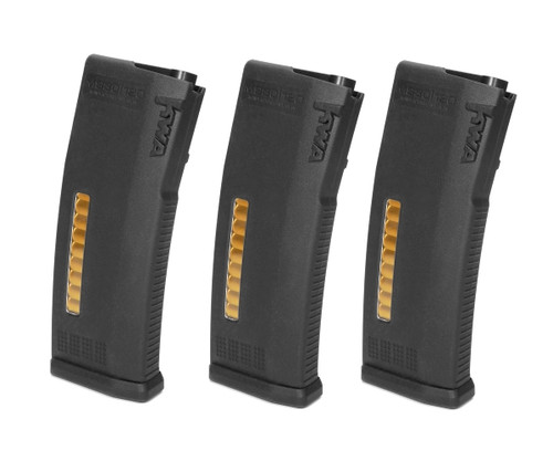 KWA MS120c Adjustable ERG, AEG2.5, AEG3 MidCap Magazines | 3 Pack | Black flat