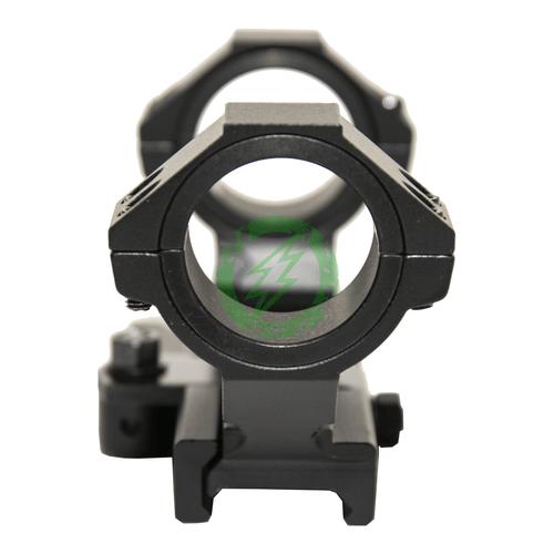 NCStar | AR15 Adjustable Scope Mount QR | Black front