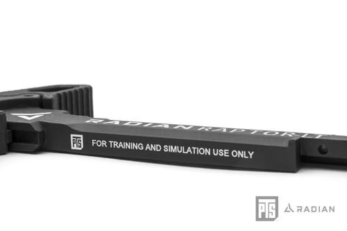 PTS Radian Raptor-LT Ambidextrous Charging Handle for AEG | Black Side