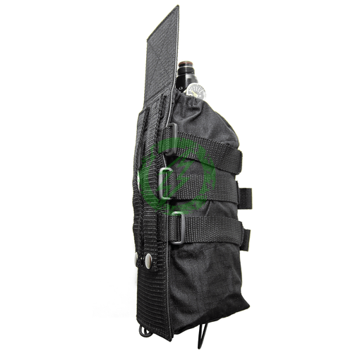 Valken | Paintball Universal Black Tank Vest Pouch side