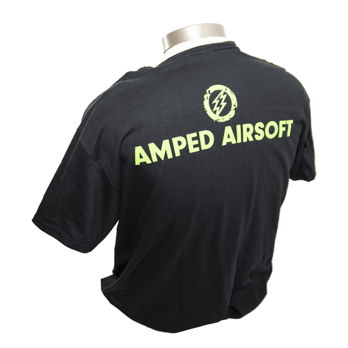 Amped Airsoft Small T-Shirt Green Splatter back