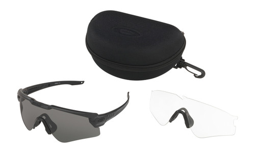Oakley SI Ballistic M Frame Alpha Black with Clear and PRIZM Grey Lens