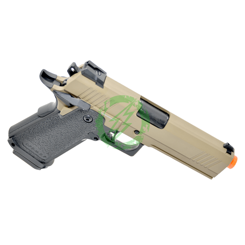 JAG Arms GM4 Tan Slide with Black Frame GBB Pistol right
