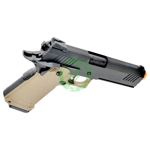JAG Arms GM4 Black Slide with Tan Frame GBB Pistol right
