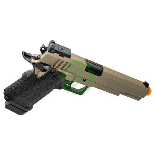 JAG Arms GM5 Tan Slide with Black Frame GBB Pistol right