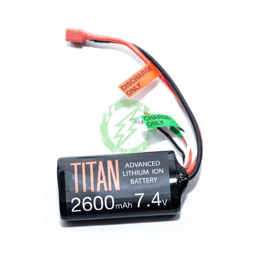 Titan Power 7.4v 2600mah Brick Battery | Deans | Lithium Ion