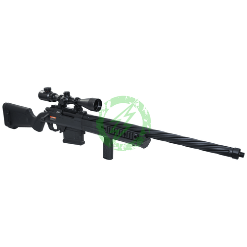 Elite Force Amoeba AS-01 MLOK Fluted Striker Sniper Rifle | Black barrel right