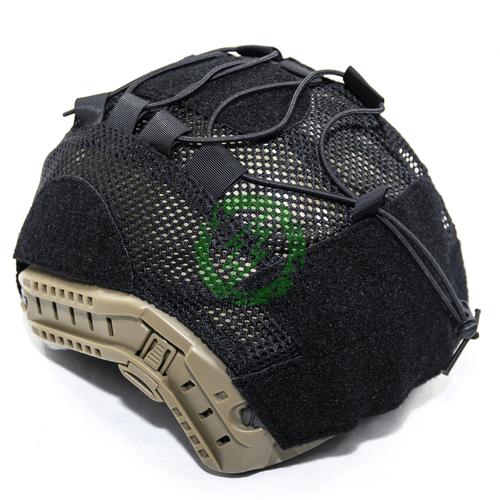 Lancer Tactical BUMP Helmet Cover for Large Size Helmets Black Back