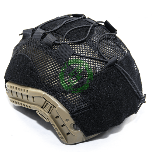 Lancer Tactical BUMP Helmet Cover for Medium Size Helmets Black Back