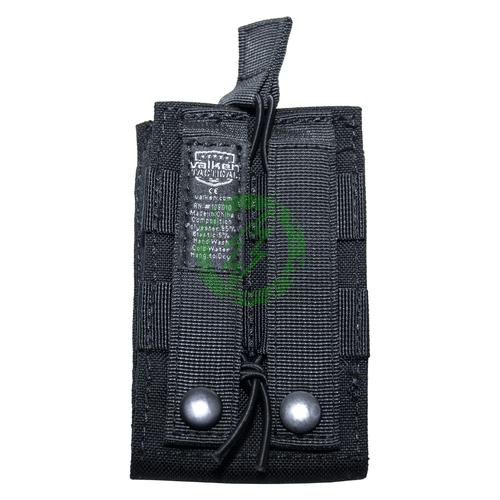 Valken Black Multi Rifle Single Mag Pouch LC back
