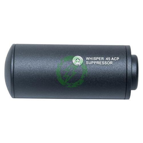 Madbull Airsoft Whisper .45ACP Barrel Extension | Black side
