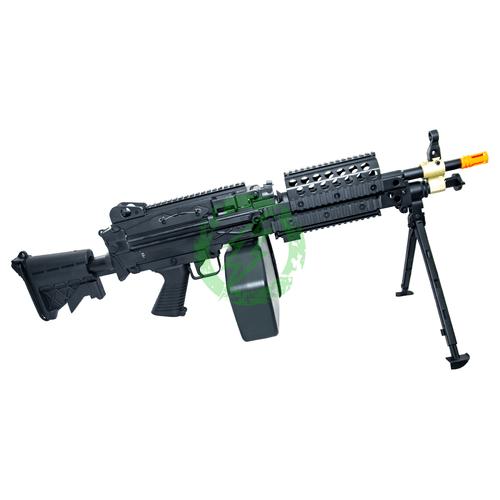 Cybergun FN Licensed M249 Airsoft Machine Gun | MK46 | Black right